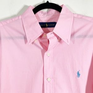 Ralph Lauren Pink Lightweight Button Front Shirt L